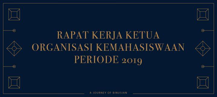 Pelepasan dan Pelantikan Ketua Organisasi Kemahasiswaan Periode 2018/2019